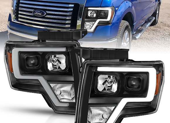 FORD F-150 09-14 PROJECTOR PLANK STYLE LIGHT BAR H.L BLACK AMBER SKU : 111443 UP
