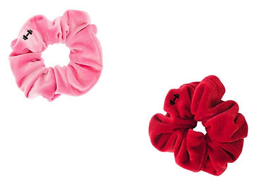 Valentines day Pink and Red Scrunchies .