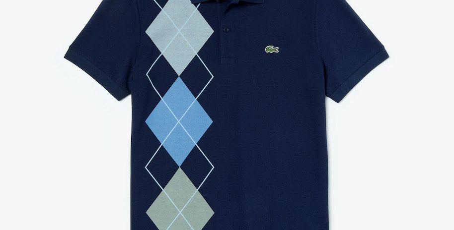Lacoste -  Regular Fit Jacquard Cotton Piqué Polo Shirt - Navy Blue