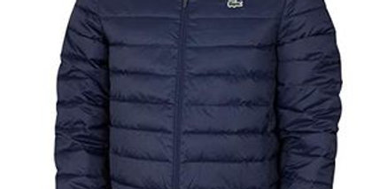 Lacoste - Hooded Water-Resistant Quilted Jacket - Navy