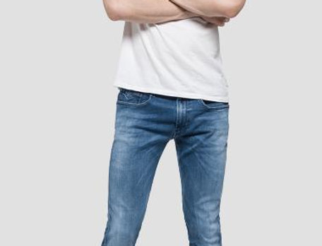 Replay - Anbass Hyperflex Slim Fit Jean - Light Denim