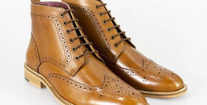 Cavani - Holmes Signature Lace Up Boots - Tan