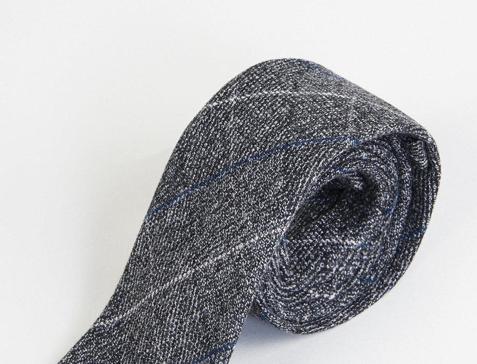 Marc Darcy - Scott - Grey Tweed Check Tie