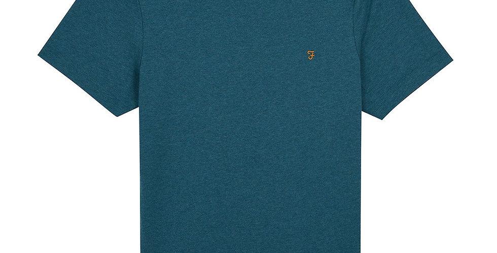 Farah - Danny Slim Fit Organic Cotton T-Shirt - Rich Turquoise