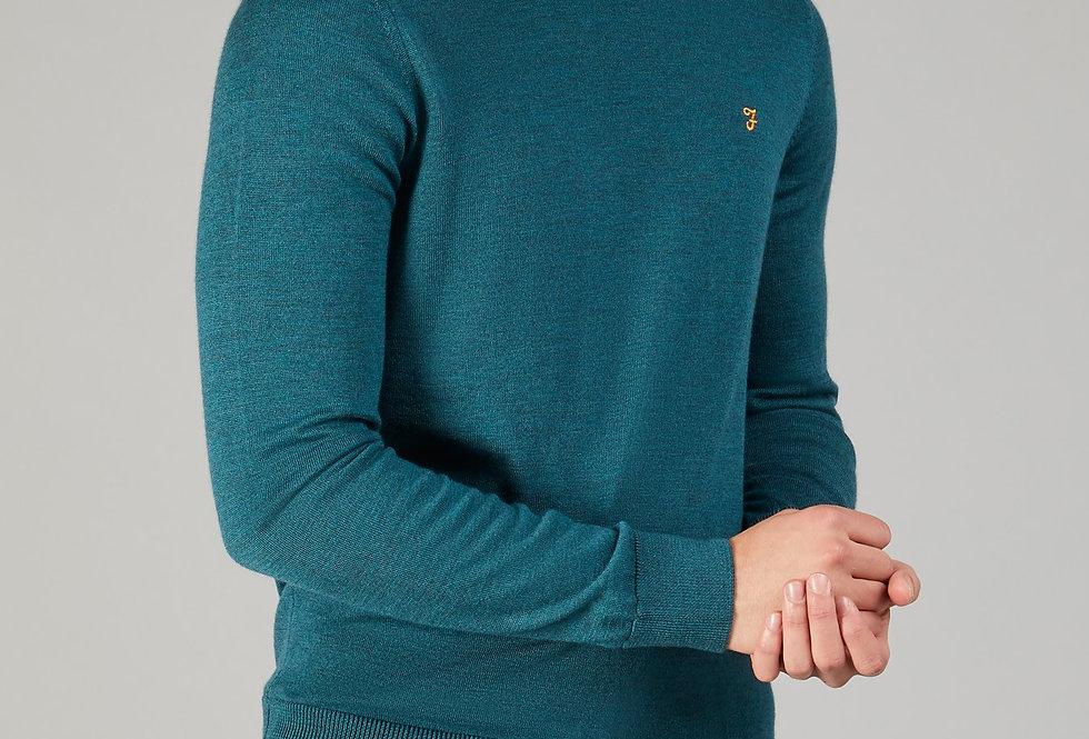 Farah - Mullen Merino Wool Sweater - Rich Turquoise