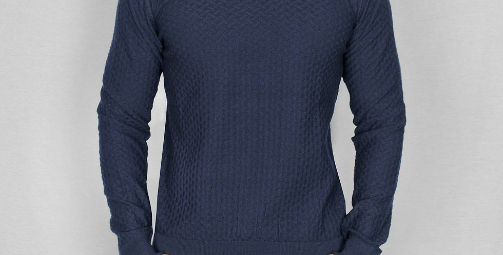 Bewley & Ritch - Crew Neck Moban Knit - Navy