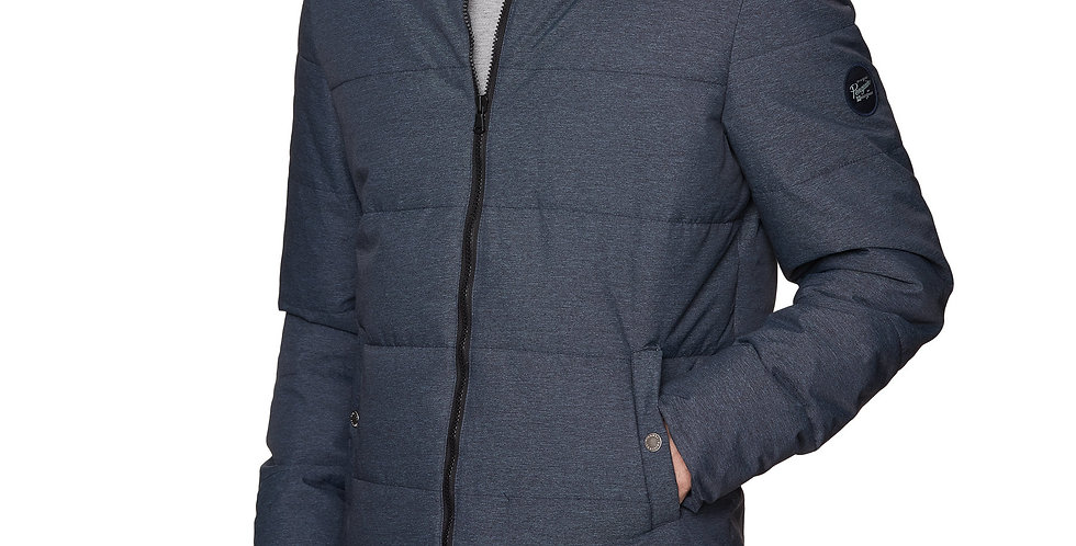 Original Penguin - Melange Insulated Puffer Jacket - Medievil Blue