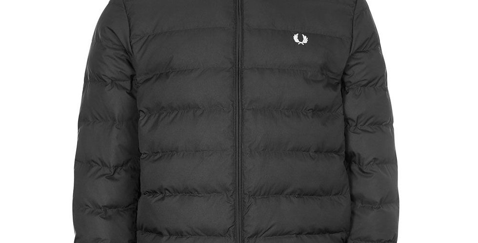 Fred Perry - Hooded Insulated Jacket - Black