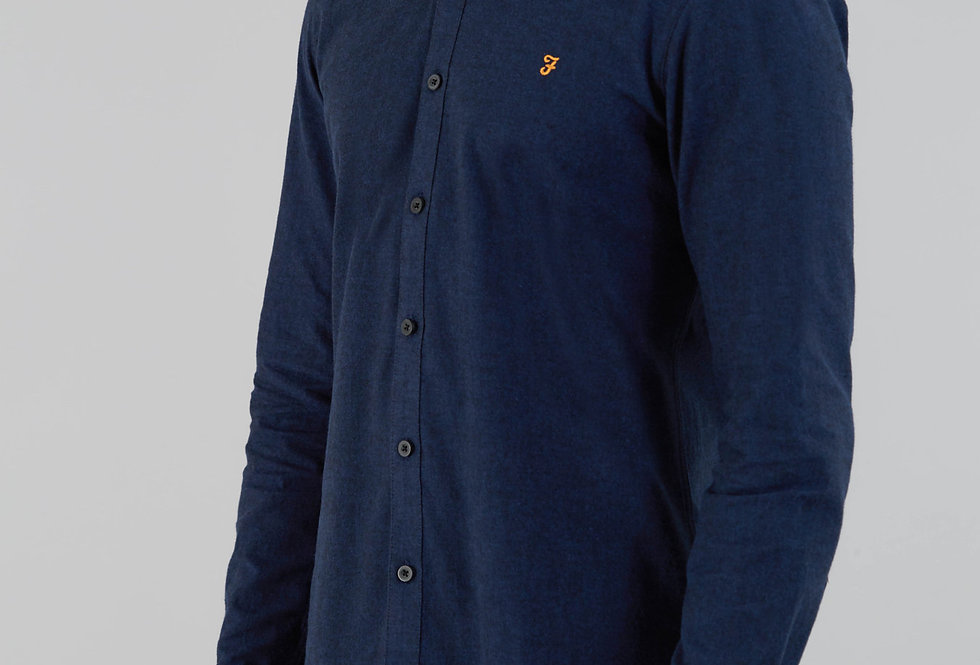 Farah - Steen Slim Long Sleeve Shirt - True Navy