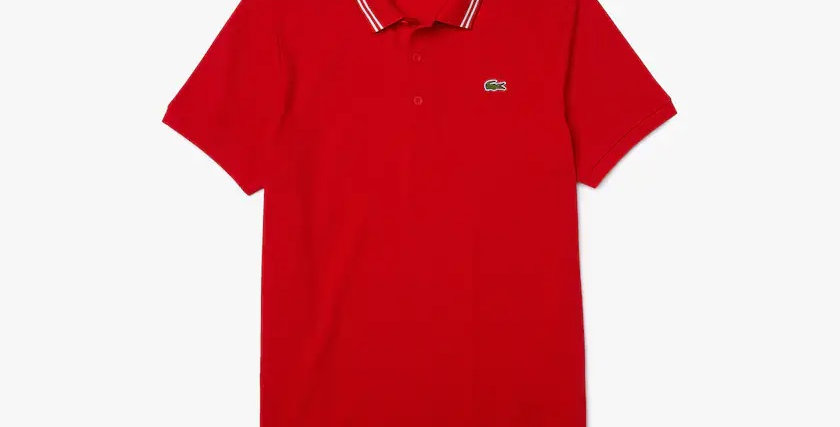Lacoste - Contrast Accent Polo - Red