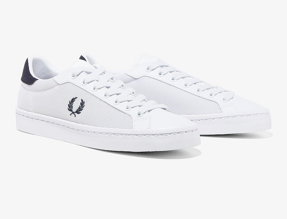Fred Perry - Lawn Leather / Mesh Plimsoll - White
