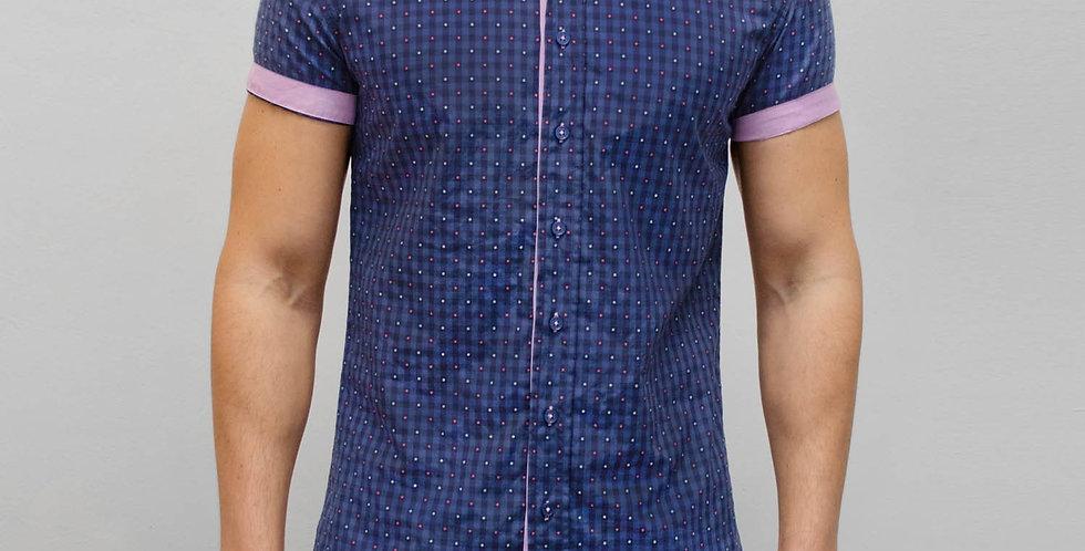 Bewley & Ritch - Short Sleeve Weave Shirt - Navy