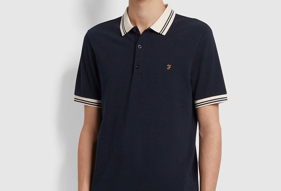 Farah - Stanton Slim Fit Tipped Polo Shirt - True Navy