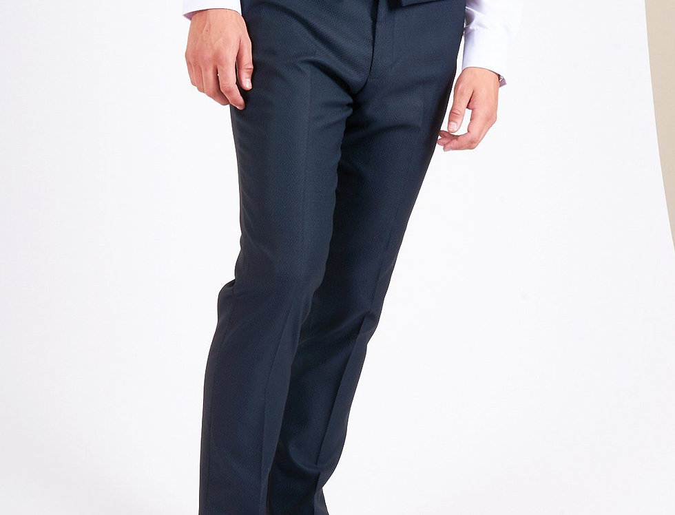 Marc Darcy - MAX - Navy Trousers with Contrast Buttons