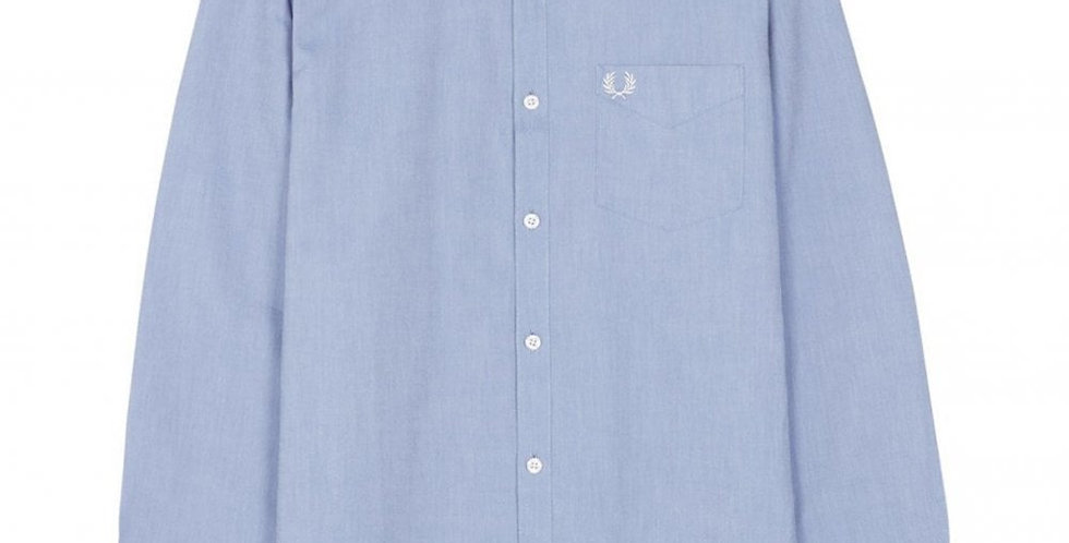 Fred Perry - Classic Long Sleeved Oxford Shirt - Light Smoke