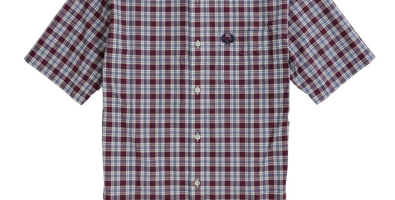 Fred Perry - Short Sleeve Check Shirt - Port