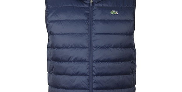 Lacoste - SPORT Hooded Water-Resistant Ripstop Quilted Vest - Navy