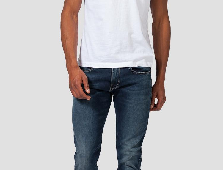 Replay - Anbass Hyperflex Slim Fit Jean - Blue/Black
