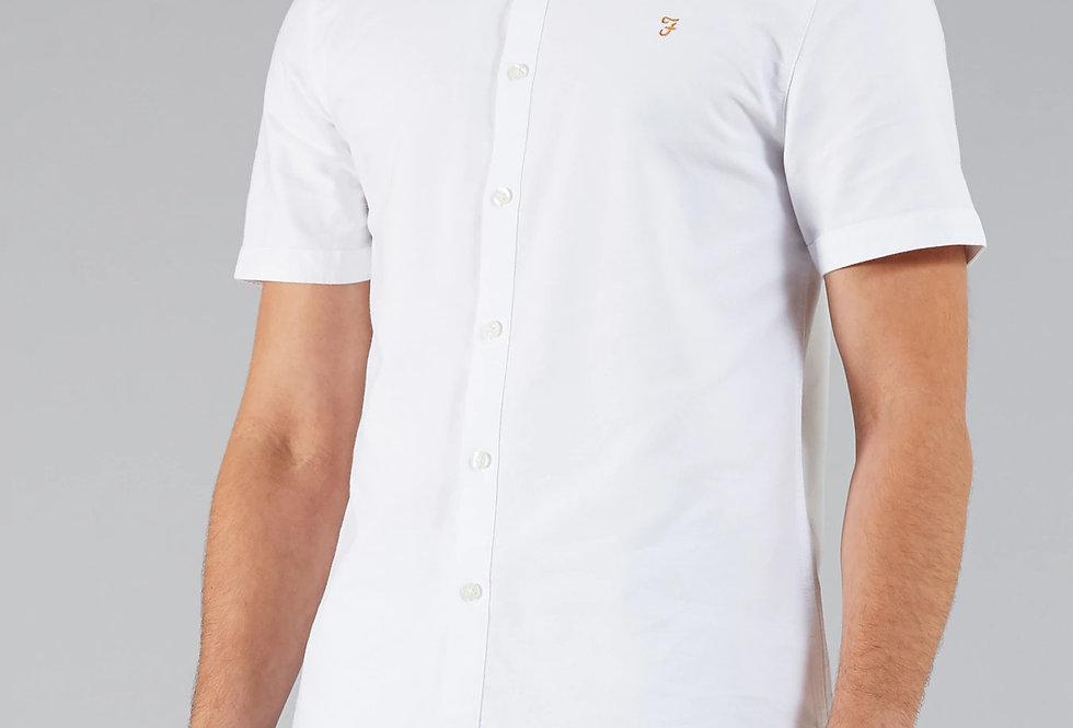 Farah - Brewer Button Down Short Sleeve Shirt - White