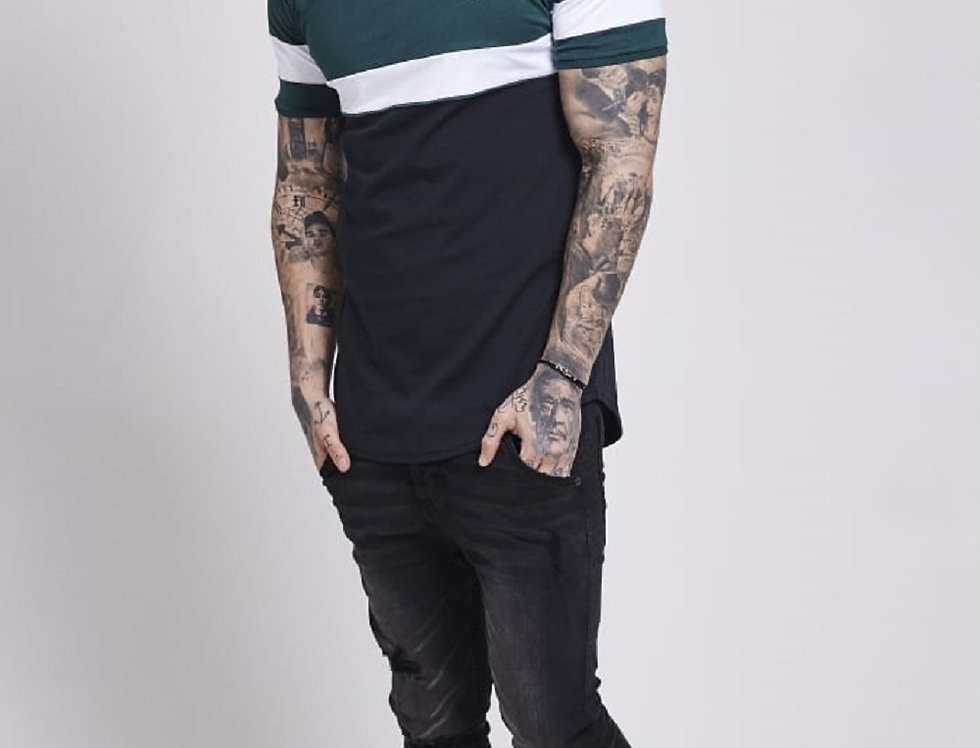 Sik Silk - Sport Tee - Teal & Black