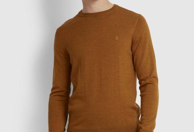 Farah - Mullen Merino Wool Sweater - Gold Marl