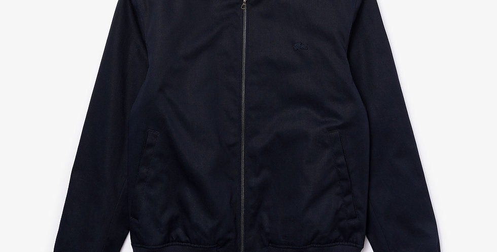 Lacoste - Lightweight Cotton Zip Jacket - Navy