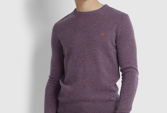 Farah - Rosecroft Lambswool Sweater - Rose Taupe Marl