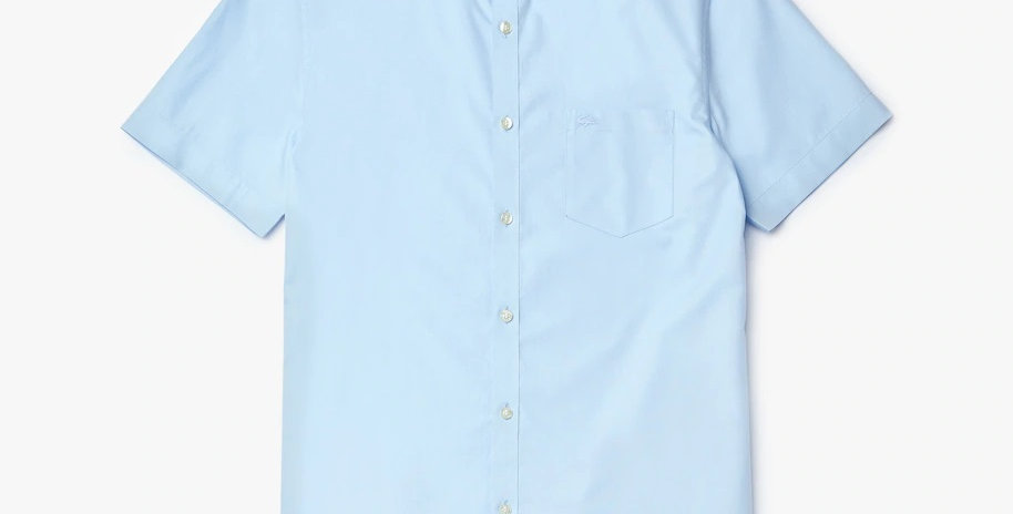 Lacoste Short Sleeve Regular Fit Mini Piqué Shirt - Sky Blue