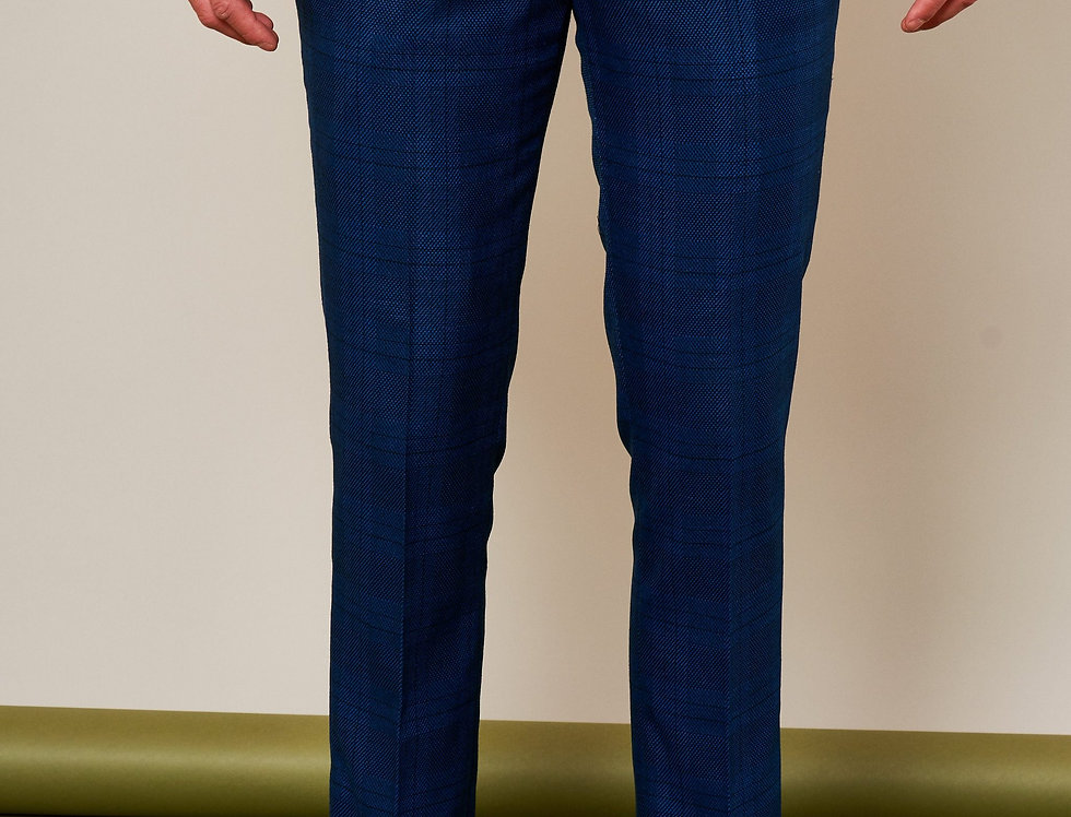 Marc Darcy - JERRY - Blue Check Trousers
