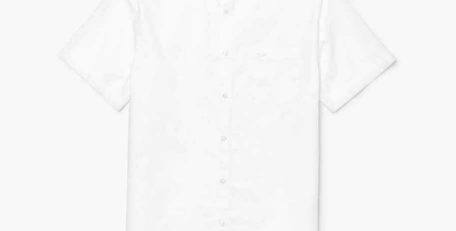 Lacoste Short Sleeve Regular Fit Mini Piqué Shirt - White