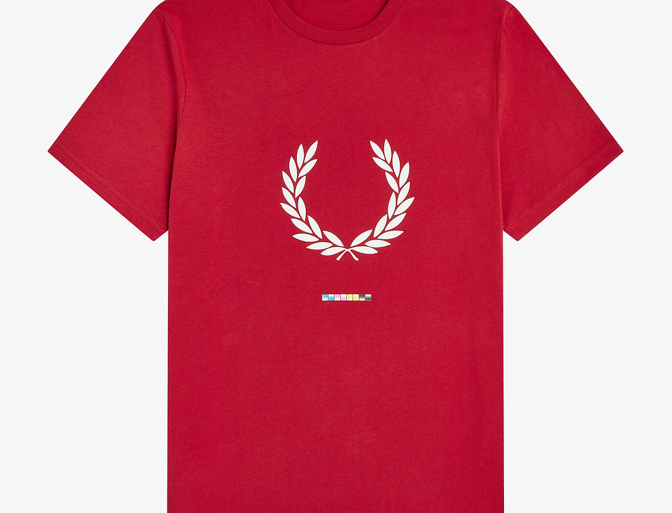 Fred Perry - Print Registration T-Shirt - Red