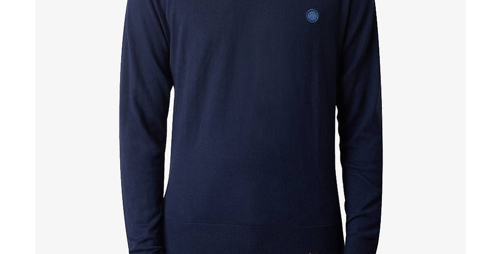 Pretty Green - Crew Neck Knitted Jumper - Navy