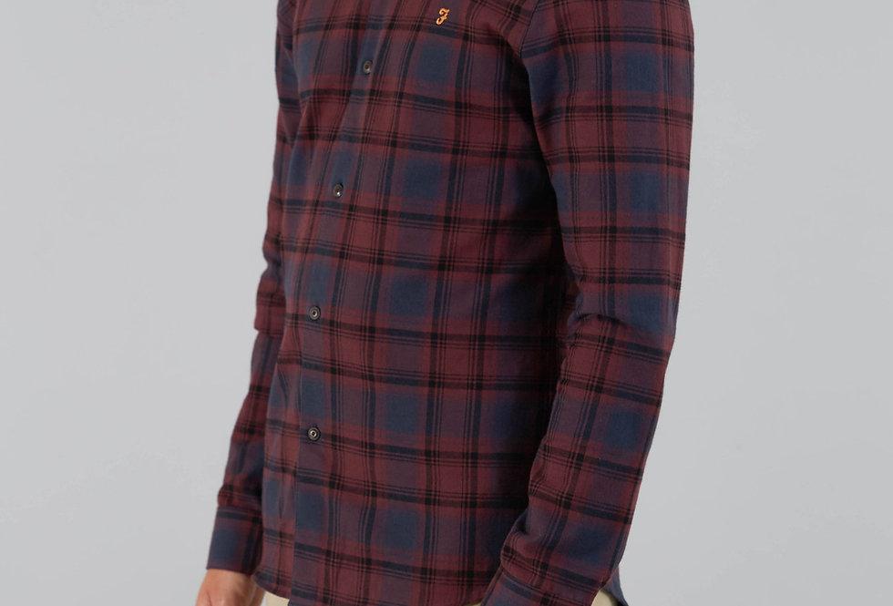 Farah - Waithe Slim Check Shirt - Farah Red