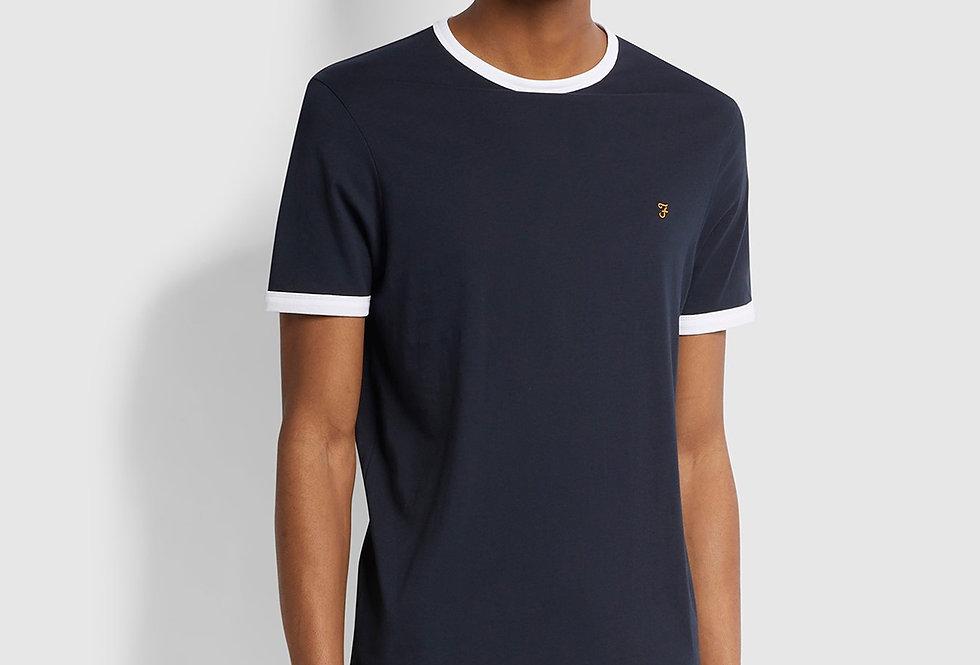 Farah - Groves Slim Fit Ringer T-Shirt - Navy