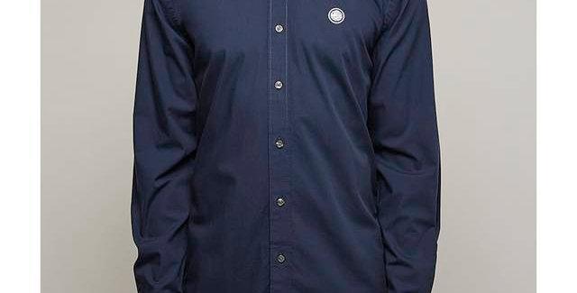 Pretty Green - Classic Fit Oxford Shirt - Navy