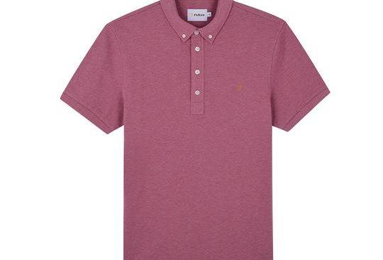Farah - Ricky Slim Fit Polo Shirt - Dusty Rose Marl