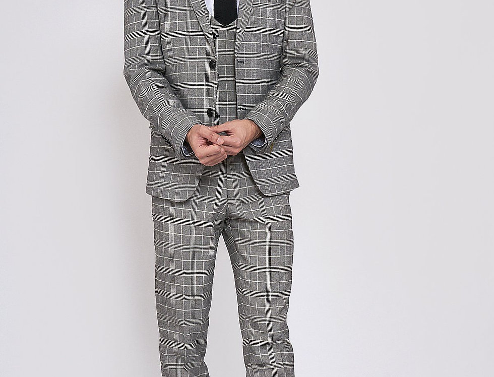 Marc Darcy - ROSS - Grey Check Three Piece Suit