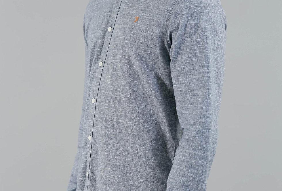 Farah - Tensington Slim Melange Shirt - Cornflower