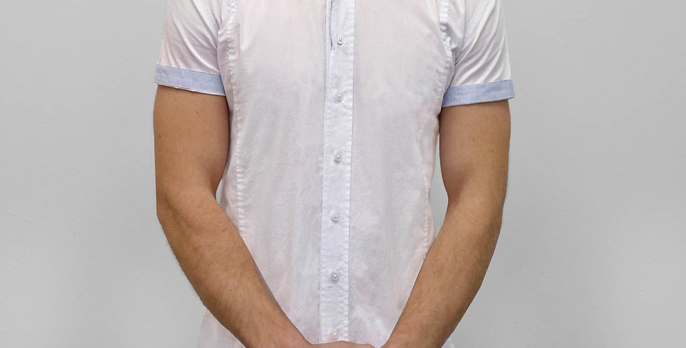 Bewley & Ritch - Short Sleeve Stroke Shirt - White
