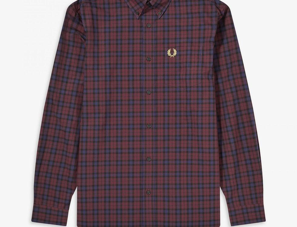 Fred Perry - Winter Tartan Shirt - Mahogany