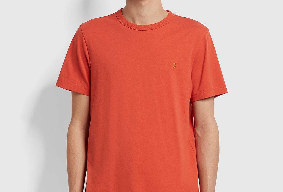 Farah - Danny Marl T-Shirt - Topanga Orange