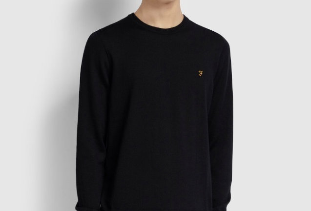 Farah - Mullen Merino Wool Sweater - Black