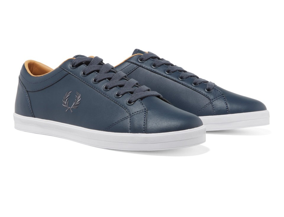 Fred Perry - Baseline Leather Plimsoll - Dark Airforce