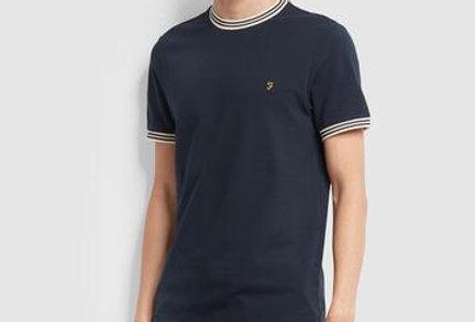 Farah - Texas Slim Fit T-Shirt - True Navy