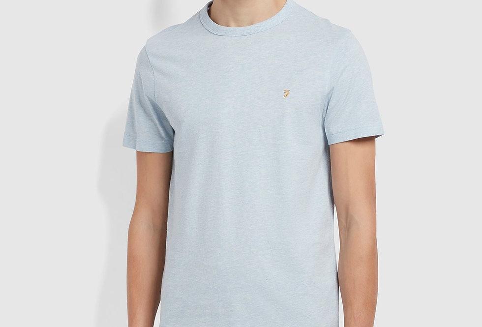Farah - Danny Marl T-Shirt -  Blue Nickle Marl