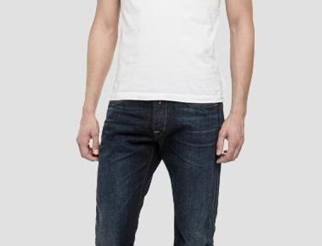Replay - Waitom Regular Slim Fit Jeans - Dark Blue Denim
