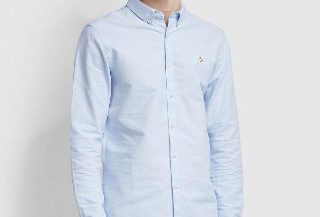 Farah - Brewer Slim Shirt - Sky Blue