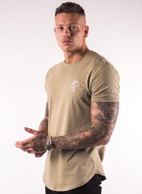 0b45f9bc9 Gym King - Longline Fitted T-Shirt - Light Khaki