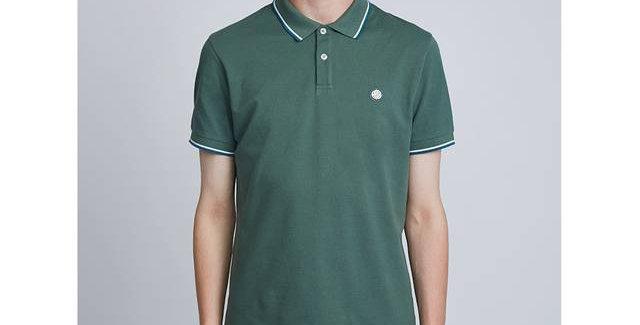 Pretty Green - Tipped Pique Polo Shirt - Green