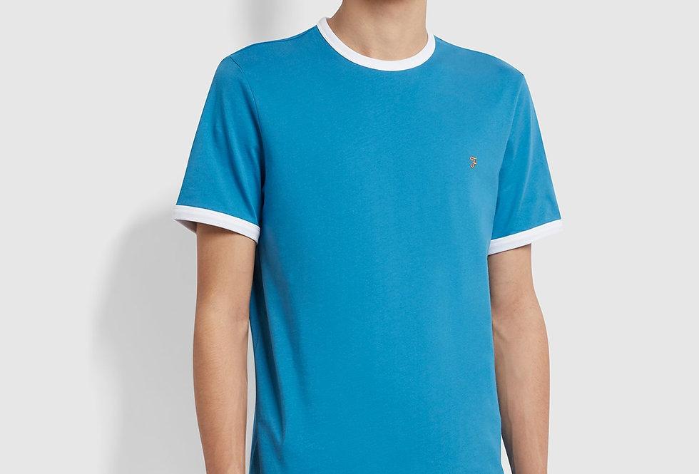Farah - Groves Slim Fit Ringer T-Shirt - Maritime Blue